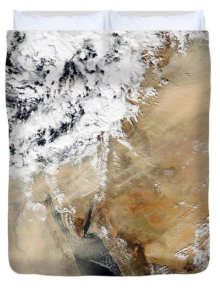 Satellite View Of The Eastern Duvet Cover by Stocktrek Images