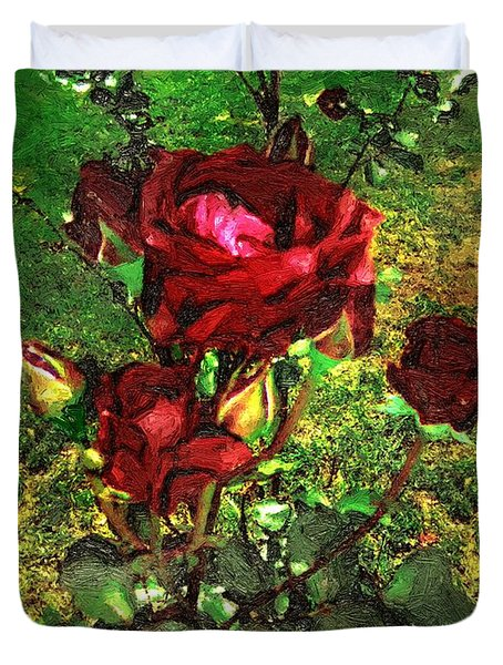 Scarlet Sentinels Duvet Cover by RC DeWinter