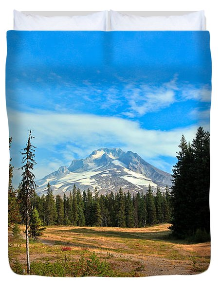 Scenic Mt. Hood In Oregon Duvet Cover by Athena Mckinzie