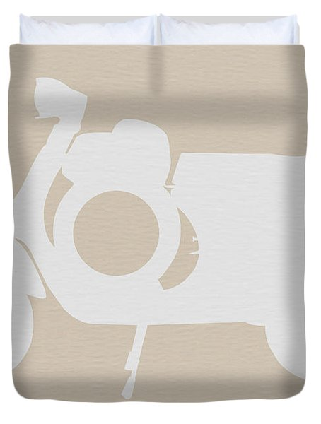 Scooter Brown Poster Duvet Cover by Naxart Studio