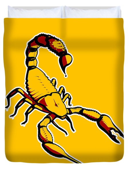 Scorpion Graphic  Duvet Cover by Pixel Chimp