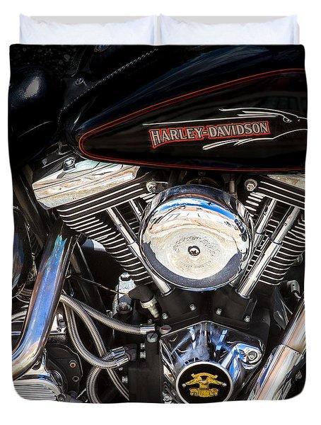 Screaming Eagle  Duvet Cover by Bob Orsillo