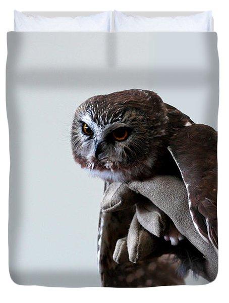 Screech Owl Duvet Cover by LeeAnn McLaneGoetz McLaneGoetzStudioLLCcom