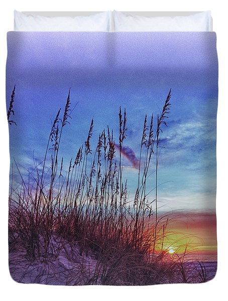 Sea Oats 5 Duvet Cover by Skip Nall
