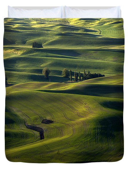 Sea Of Green Duvet Cover by Mike  Dawson
