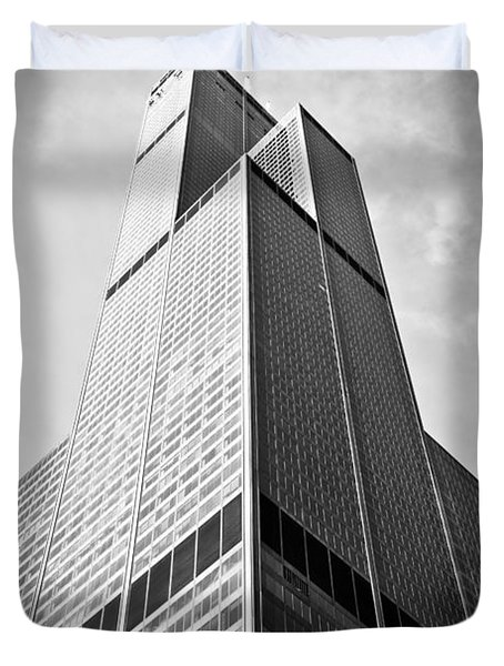 Sears-Willis Tower Chicago Duvet Cover by Paul Velgos
