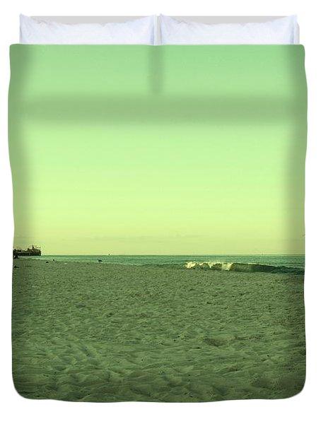 Seaside Park II - Jersey Shore Duvet Cover by Angie Tirado