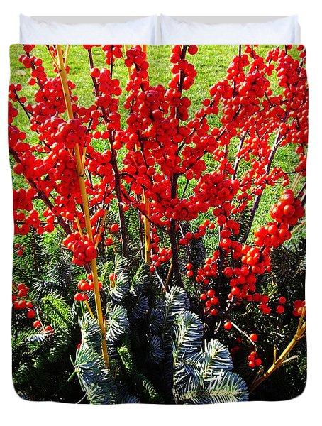 Seasons Greetings Duvet Cover by Xueling Zou