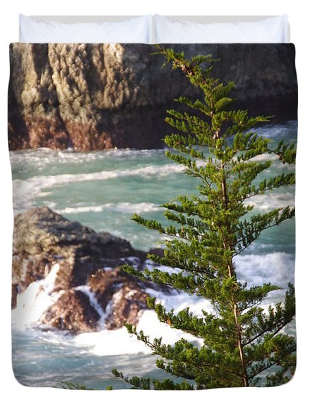 Secluded Big Sur Cove 2 Duvet Cover by Jeff Lowe