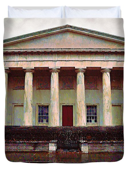 Second Bank Of The United States Philadelphia Pa Duvet Cover by Bill Cannon