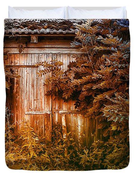 Secret Door Duvet Cover by Jutta Maria Pusl
