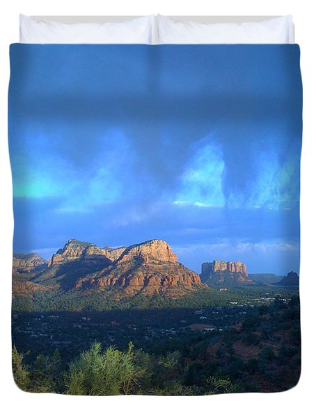 Sedona Clouds Duvet Cover by Nina Prommer