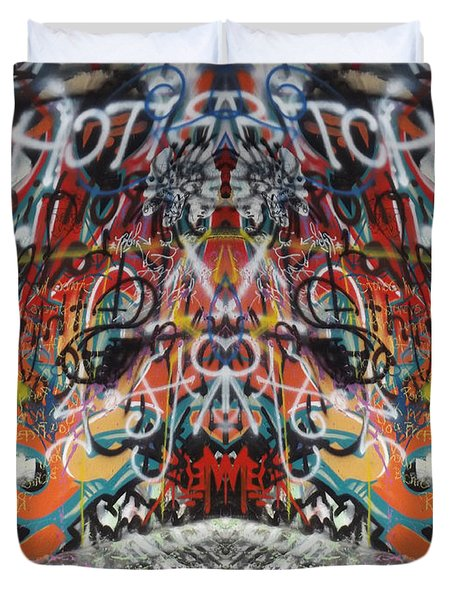Seeing Double Duvet Cover by Cindy Nunn