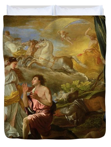 Selene And Endymion Duvet Cover by Nicolas Poussin