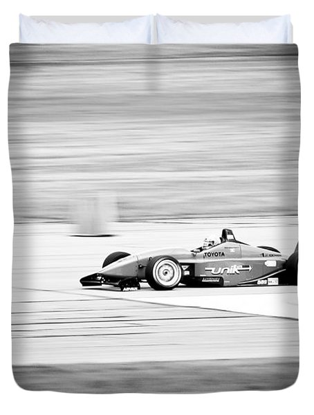 Sepia Racing Duvet Cover by Darcy Michaelchuk