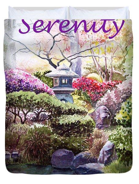 Serenity Duvet Cover by Irina Sztukowski