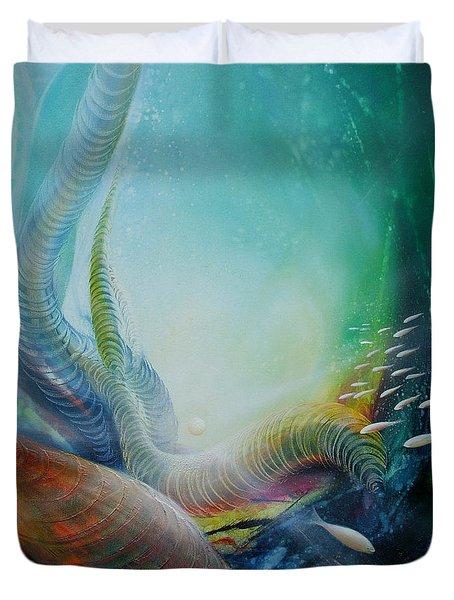 Serpula Spiralis Duvet Cover by Drazen Pavlovic