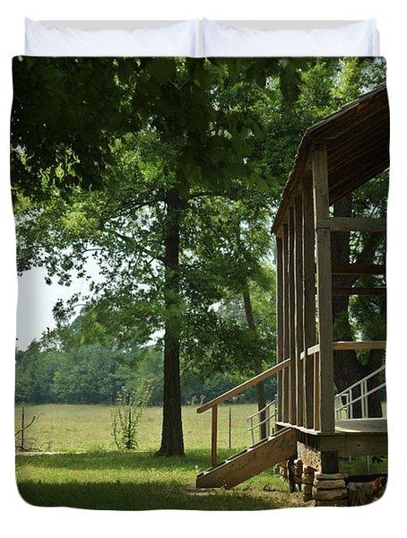 Settlers Cabin Arkansas 2 Duvet Cover by Douglas Barnett