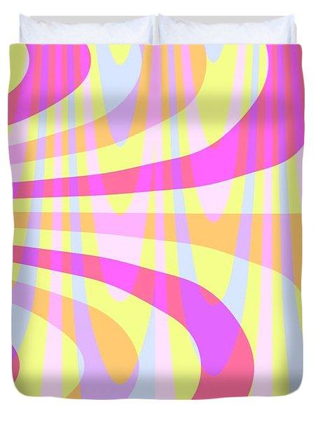Seventies Swirls Duvet Cover by Louisa Knight