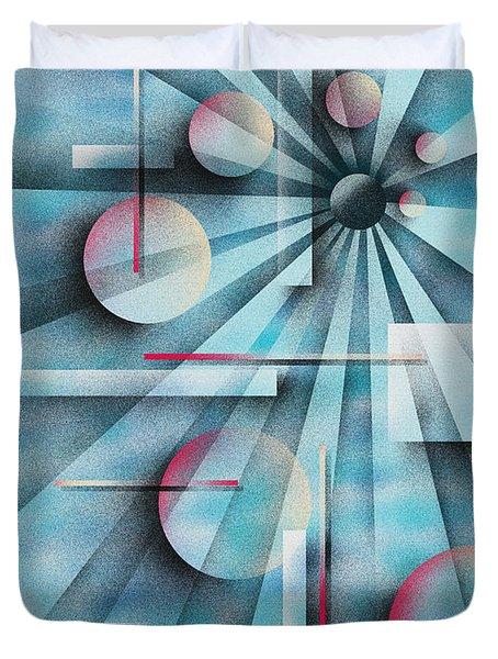 Shades of Fibonacci Duvet Cover by Hakon Soreide