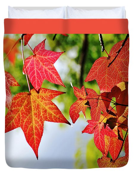 Shades Of Red Duvet Cover by Kaye Menner
