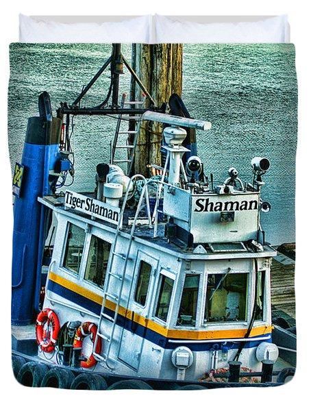 Shaman Tug-HDR Duvet Cover by Randy Harris
