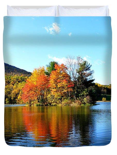 Sharp Top Mountain Duvet Cover by Todd Hostetter