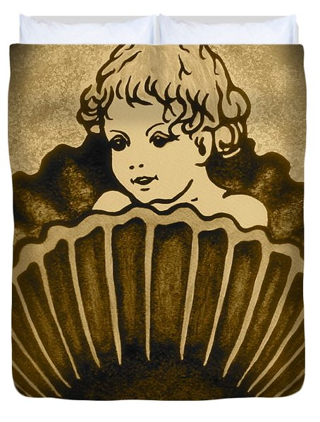 Shell with Child 2 Duvet Cover by Georgeta  Blanaru