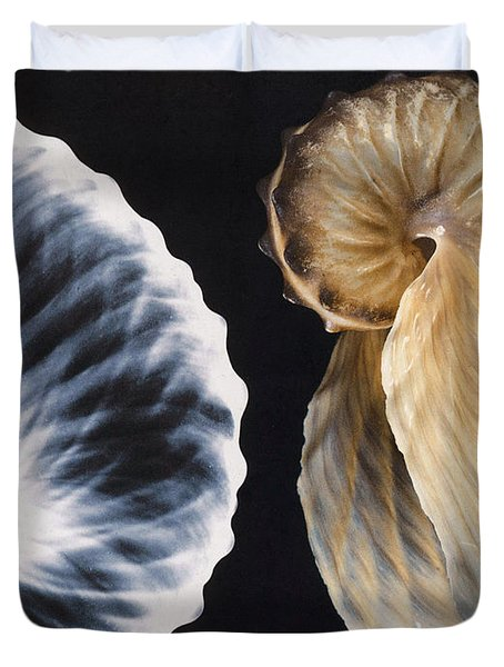 Shell X-ray Duvet Cover by Photo Researchers