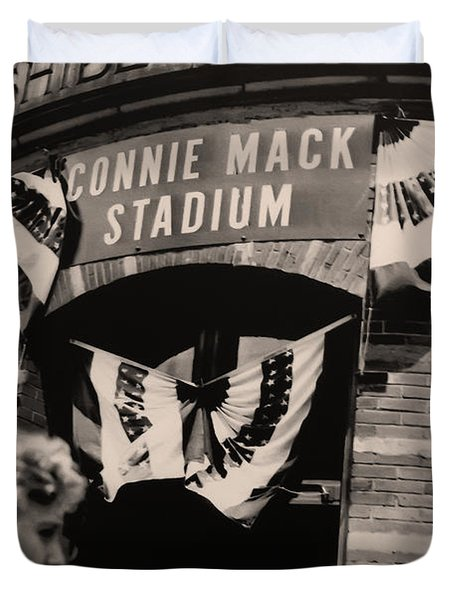 Shibe Park - Connie Mack Stadium Duvet Cover by Bill Cannon