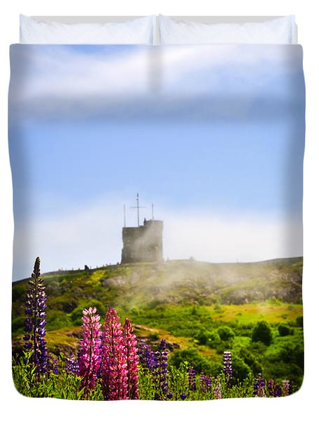 Signal Hill in St. John's Newfoundland Duvet Cover by Elena Elisseeva