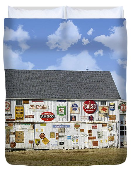 Signs Of The Times Duvet Cover by Brian Wallace