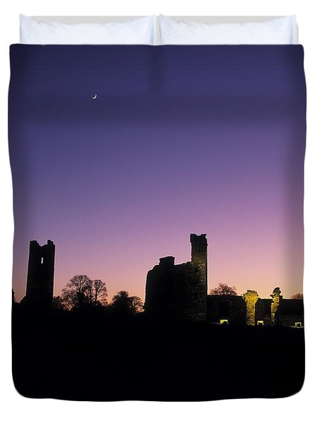 Silhouette Of St. Patricks Church And A Duvet Cover by The Irish Image Collection