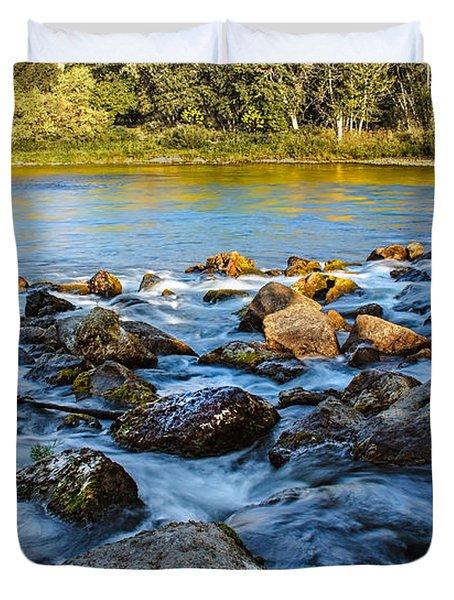 Silk Water Duvet Cover by Robert Bales
