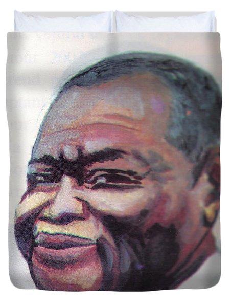 Simon Kimbangu Duvet Cover by Emmanuel Baliyanga