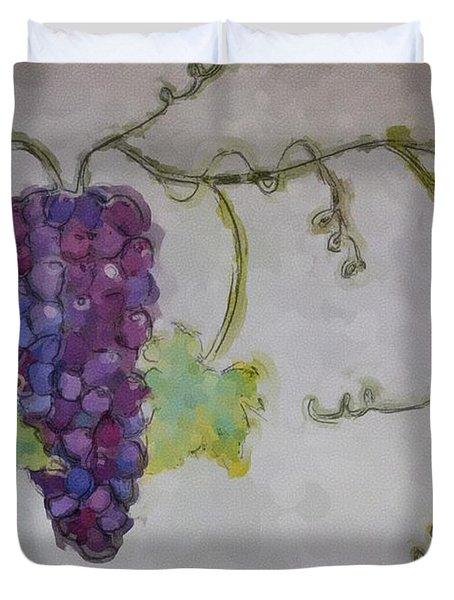 Simply Grape Duvet Cover by Heidi Smith