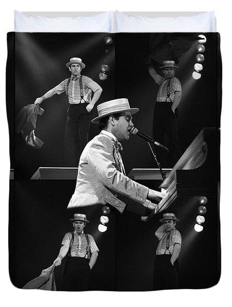 Sir Elton John 9 Duvet Cover by Dragan Kudjerski