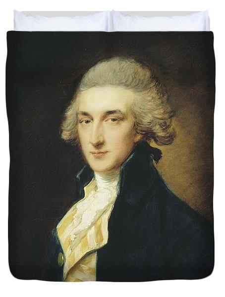 Sir John Edward Swinburne Duvet Cover by Thomas Gainsborough