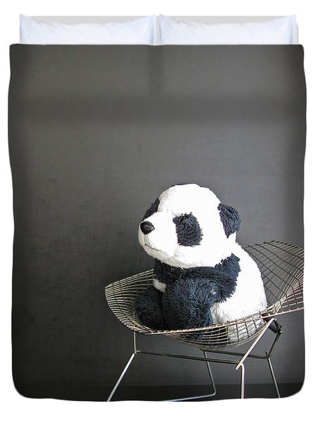 Sitting Meditation. Floyd From Travelling Pandas Series. Duvet Cover by Ausra Paulauskaite