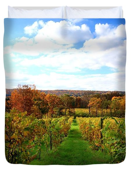 Six Miles Creek Vineyard Duvet Cover by Paul Ge