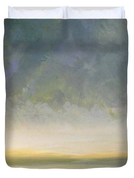 Skaket - Waiting On The Storm Duvet Cover by Jacqui Hawk