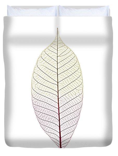 Skeleton Leaf Duvet Cover by Elena Elisseeva