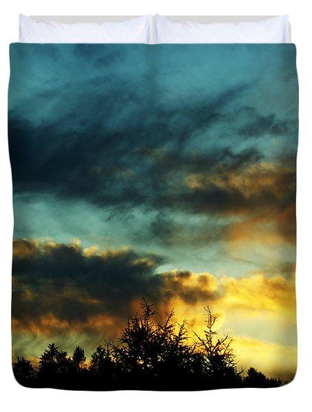 Sky Attitude Duvet Cover by Aimelle