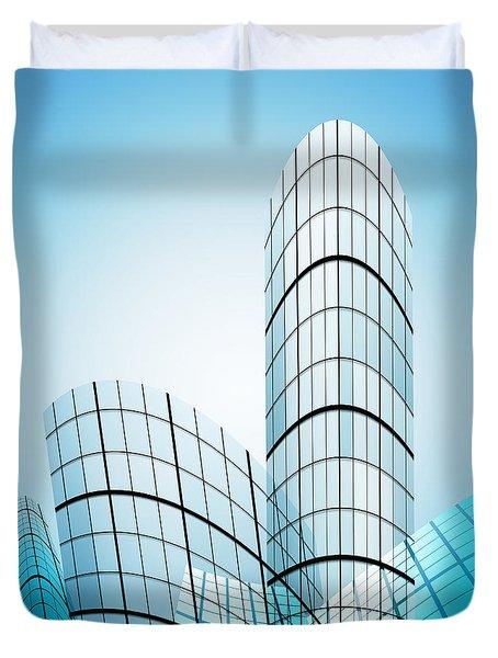 Skyscrapers In The City Duvet Cover by Setsiri Silapasuwanchai