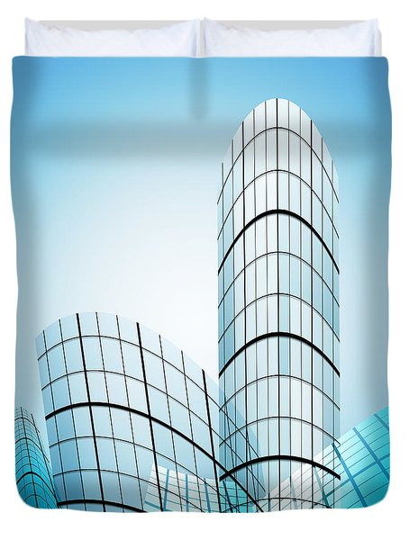 skyscrapers in the city Duvet Cover by Setsiri Silapasuwanchai