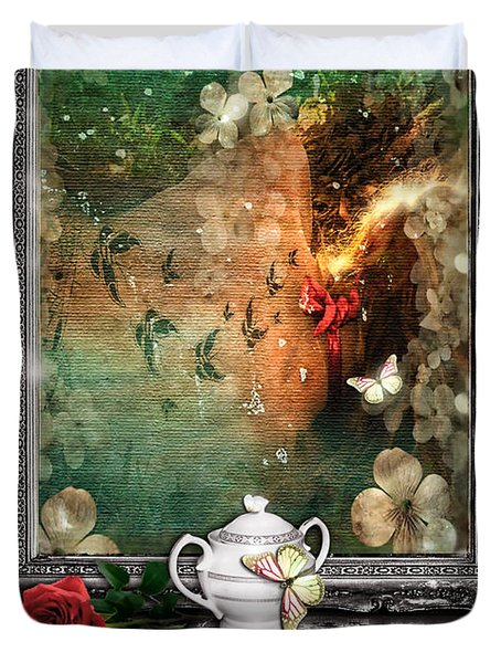 Sleeping Beauty Duvet Cover by Mo T