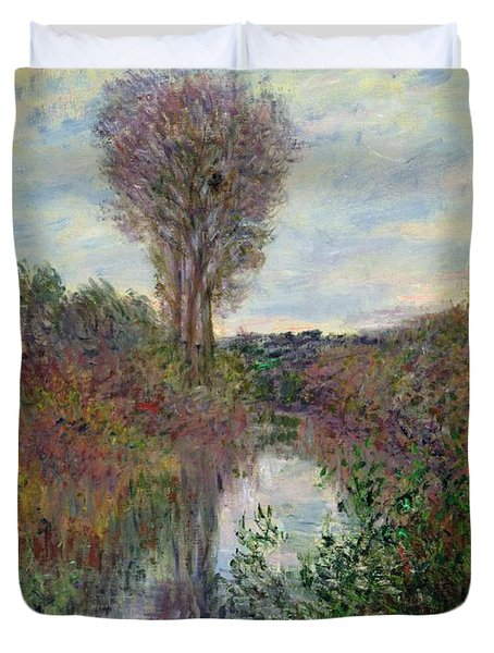 Small Branch Of The Seine Duvet Cover by Claude Monet