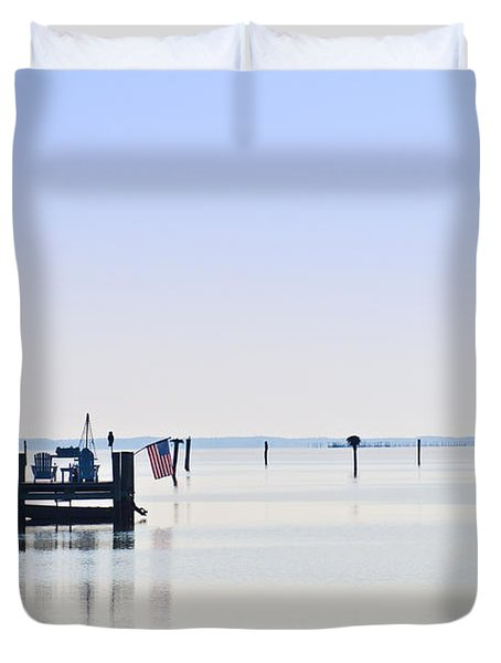Smooth As Glass Duvet Cover by Bill Cannon
