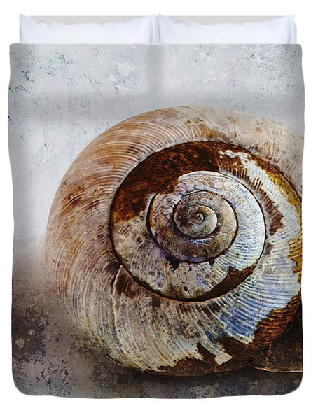 Snail Shell Duvet Cover by Ron Jones