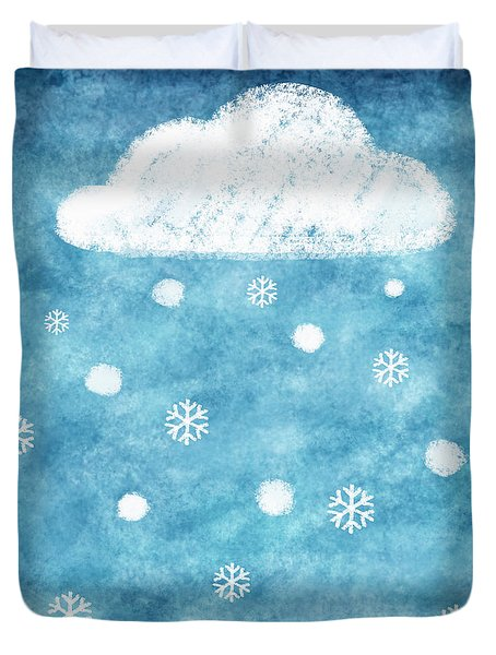 Snow Winter Duvet Cover by Setsiri Silapasuwanchai